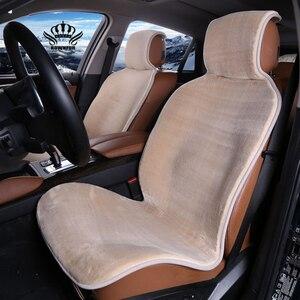 Image 4 - Funda de piel sintética para asiento de coche, cojín Universal de piel Artificial para interior de automóvil, para toyota, BMW, Kia, Mazda y Ford