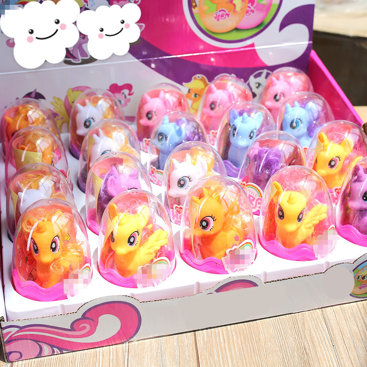 1pcs Lovely unicorn doll Surprise Egg Doll Children Collection <font><b>Figure</b></font> Kids Toy Beautiful <font><b>horse</b></font> <font><b>figures</b></font> image
