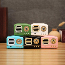 Portable Bluetooth Speaker Retro Mini Portable Wireless Bluetooth Speaker USB/TF Card Music Player HIFI Subwoofer Speaker Color wireless bluetooth speaker sc208 computer mini dual speaker portable small stereo car subwoofer support tf card usb disk