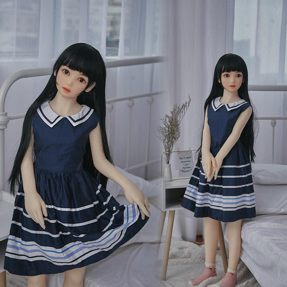 Muñeca sexual pequeña de 132cm con pechos Lifesize, muñeca sexual de silicona realista de Anime japonés para hombres, juguetes sexis para adultos con Vagina tipo Silikon Hombre masturbador para hombres Vagina realista, Anal suave de silicona coño estrecho erótica juguete adulto del sexo juguetes Masturbatings máquina de Vulva