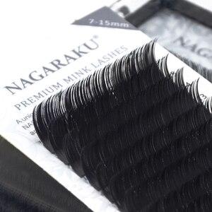 Image 5 - NAGARAKU 6 fällen groß 7 ~ 15mm MIX Faux nerz wimpern verlängerung natürliche 16 reihen lash trays einzelnen wimpern make up cilios