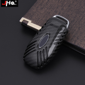 Image 3 - JHO REAL Carbon Remote Key Fob Shell Case Key Cover For Ford Explorer 2016 2019 2018 2017 XLT Limited Sport Car Accessories