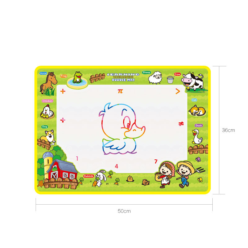 2342 Children Magic Canvas Happy Farm Canvas Water Graffiti Multi--50*36