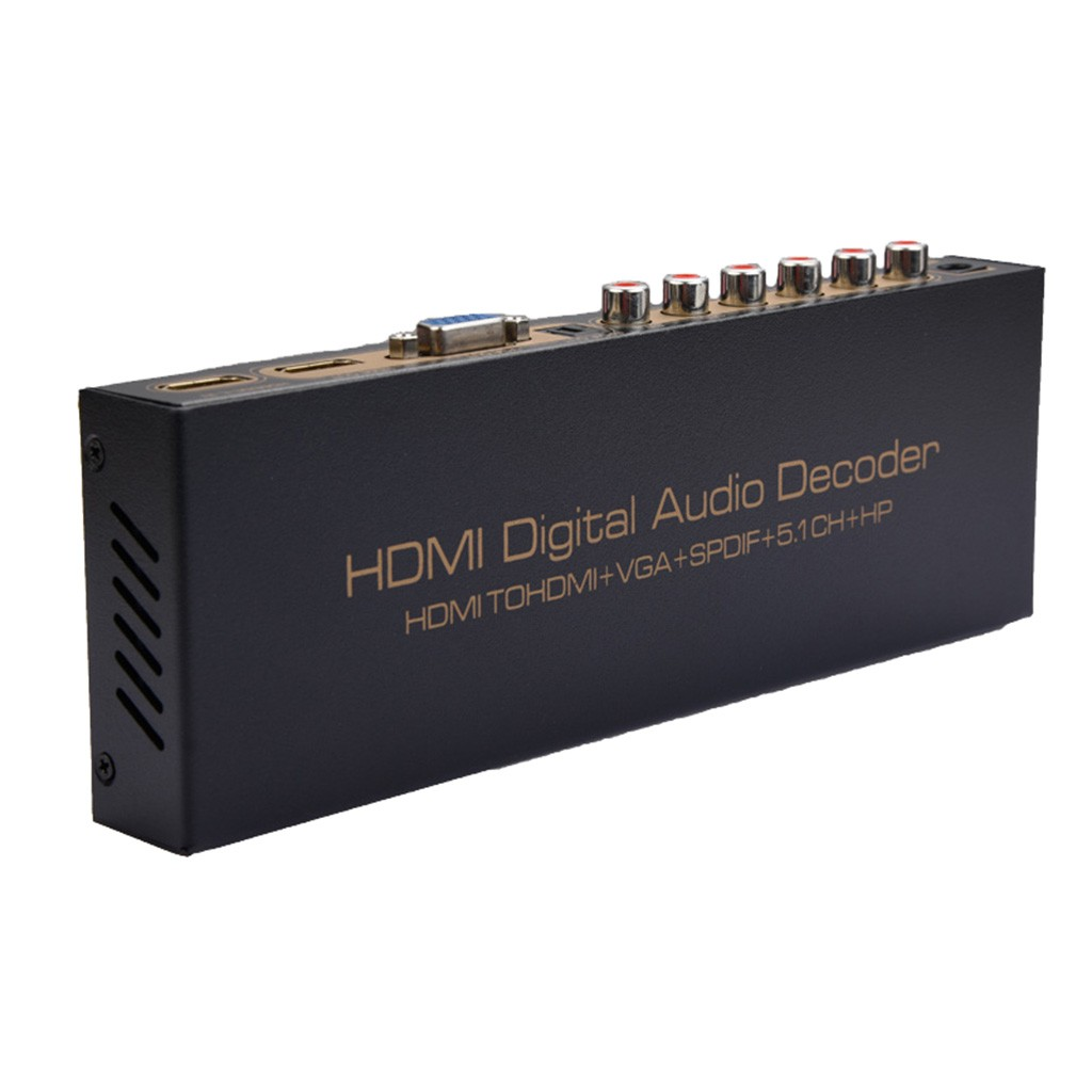 Hot sale NK-51S 1080P HDMI TO HDMI VGA SPDIF 5.1CH Digital Multi-channel Audio Decoders Computer accessories Tablet Pc планшет