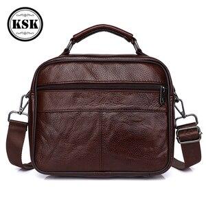 Image 4 - メッセンジャーバッグメンズ本革バッグ高級ハンドバッグベルトのための 2019 ファッションフラップ男性の革のハンドバッグ KSK