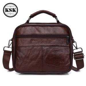 Image 4 - Sacoche en cuir véritable pour hommes, sacoche de luxe, sacs à bandoulière à rabat Fashion, sacs à main KSK, 2019