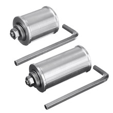 DIY 30/50mm Double Bearing Driving Wheel Belt Sander Conveyor Guide Wheel With 8mm Shaft Rod / Wrench