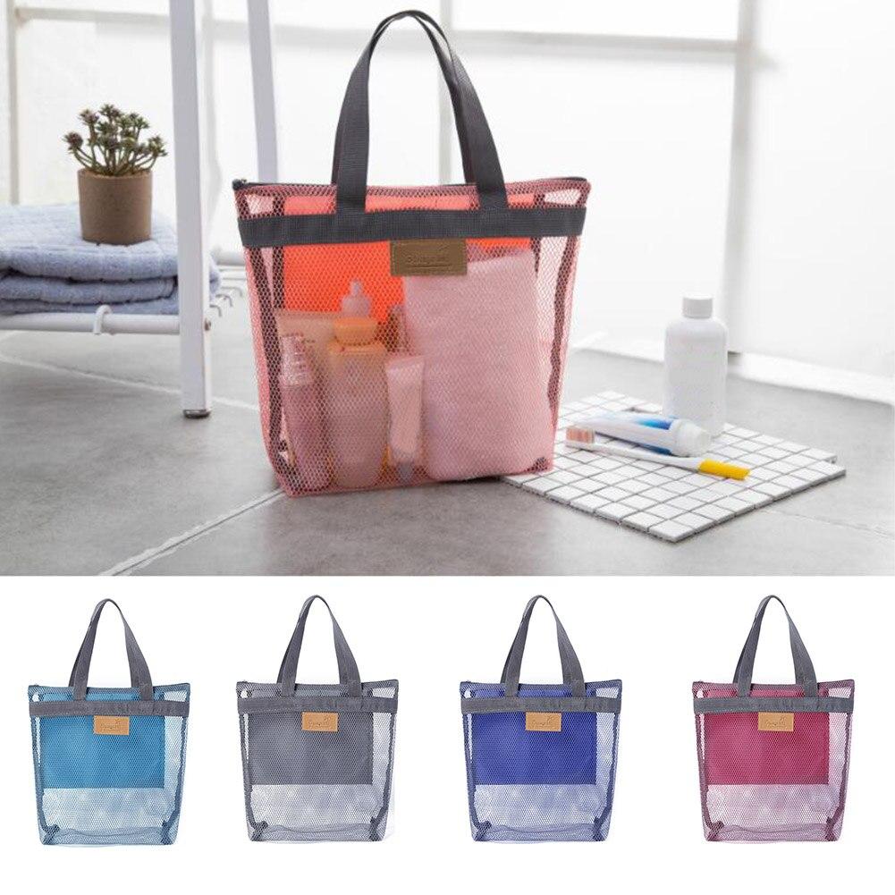 1Pcs Women Travel Large Cosmetic Bag Makeup Mesh Toiletry Bags Men Wash Organizer Portable Pouch Case Transparent Beauty Bags