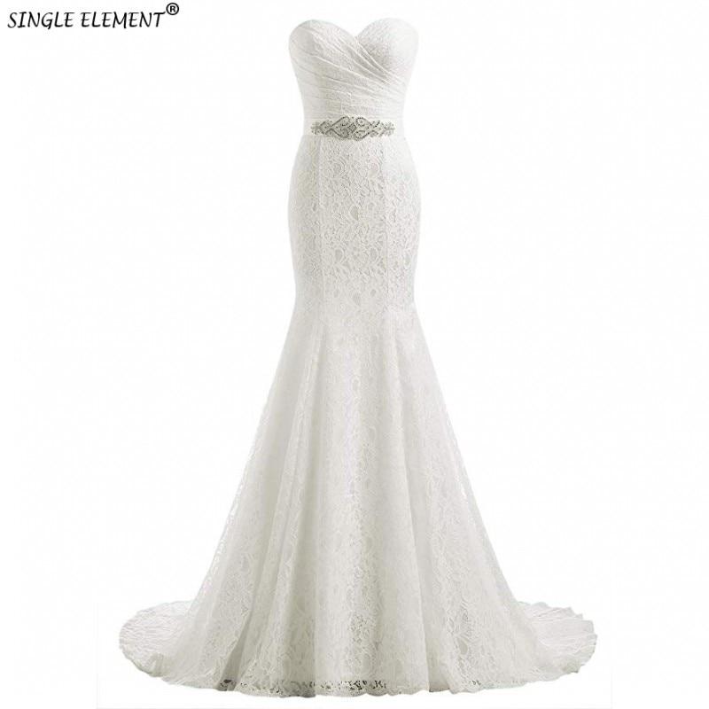 Real Photo Lace White Ivory Mermaid Bride Eightale Wedding Dresses Lace Up