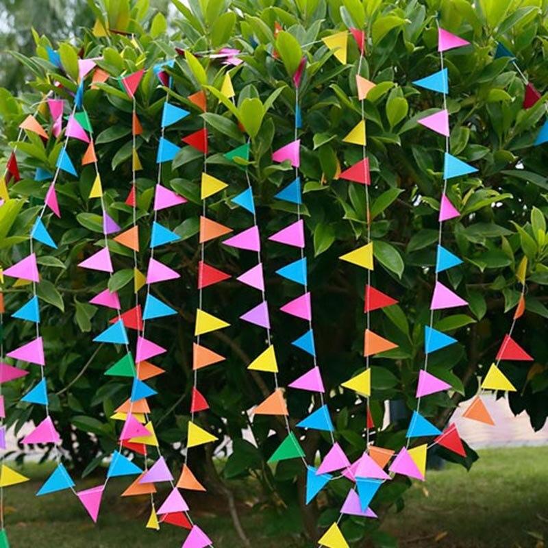 4 метра гирлянда с радужным бумажным флагом, Декоративная гирлянда, бандаж, баннеры для детского душа, свадебные украшения, вечерние принадл...