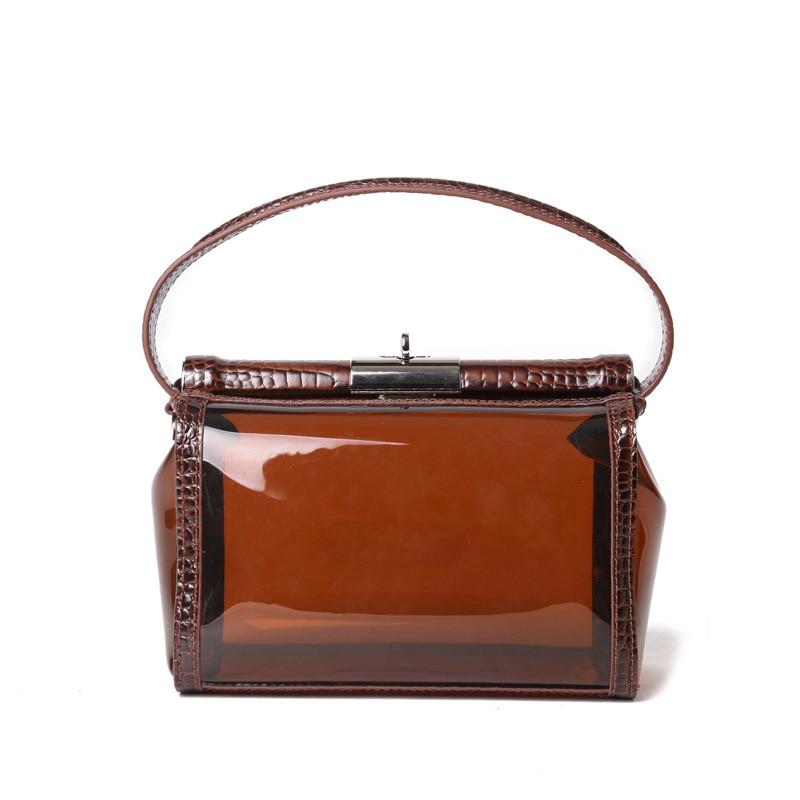 Nouvelle chaîne en Crocodile, chaîne de sac transparente, sac à bandoulière unique, sac Oblique, sac de gelée tenu dans la main