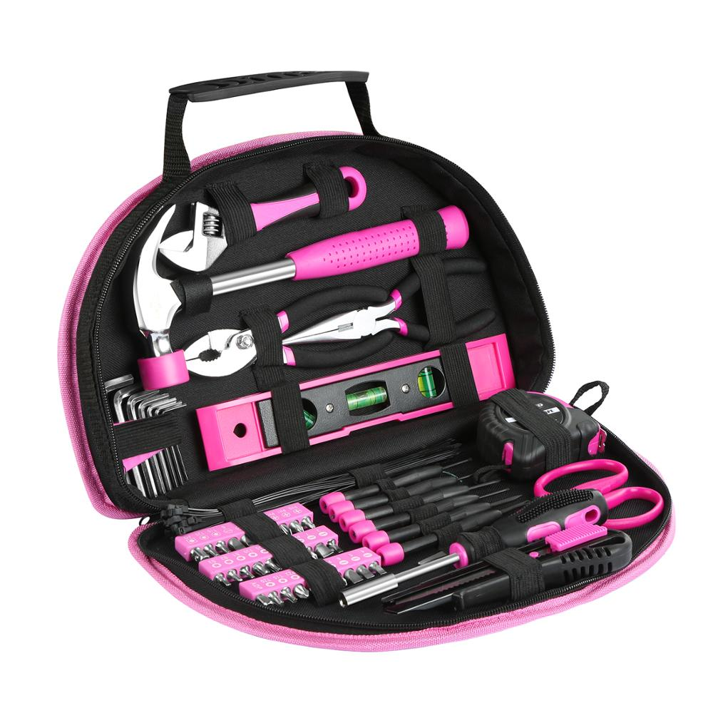 Tools : 69PCS Hand Tool Sets Household Home Repair Tool Screwdiver Scissors Kit with Portable Tools Bag By PROSTORMER