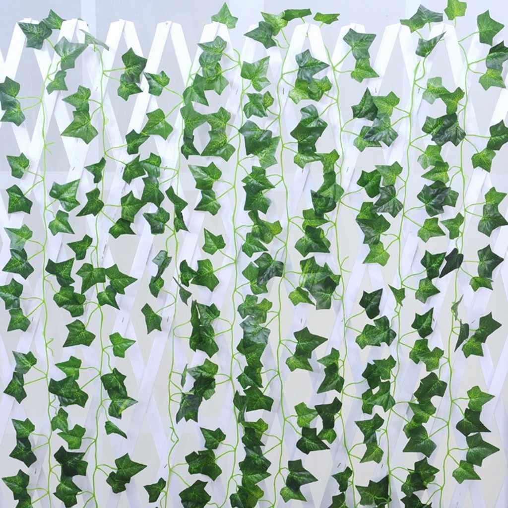 2019 haute qualité 24PC artificielle lierre feuille guirlande plantes vigne faux feuillage fleurs décor à la maison soutien en gros livraison directe