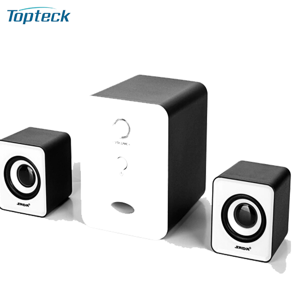 SADA D-201 USB Wired Combination Speaker Computer Speakers Bass Stereo Music Player Subwoofer Sound Box for Desktop Laptop Phone