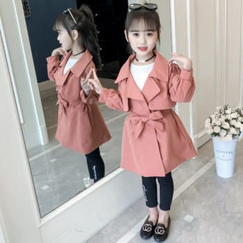 2020 Spring Autumn Girls Jacket Coat Clothes Fashion Children Jackets Long Outerwear Teen Girl Windbreaker 4 6 8 10 12 13 Years