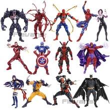 Revoltech Figure Deadpool Spiderman Iron Man Wolverine Magneto Captain America Carnage Psylocke Deathstroke Gambit Batman Venom