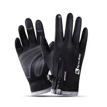 Mężczyźni kobiety wodoodporne polarowe ciepłe rękawiczki wiatroszczelne zimowe rękawiczki rowerowe rękawiczki do ekranu dotykowego antypoślizgowe rękawiczki prezent tanie tanio TRIPLE INFINITY Dla dorosłych Diving Cloth + Fleece Stałe Nadgarstek Moda 11120190615 Black Gray Pink Ski gloves Cycling glove Riding gloves Mountaineering gloves
