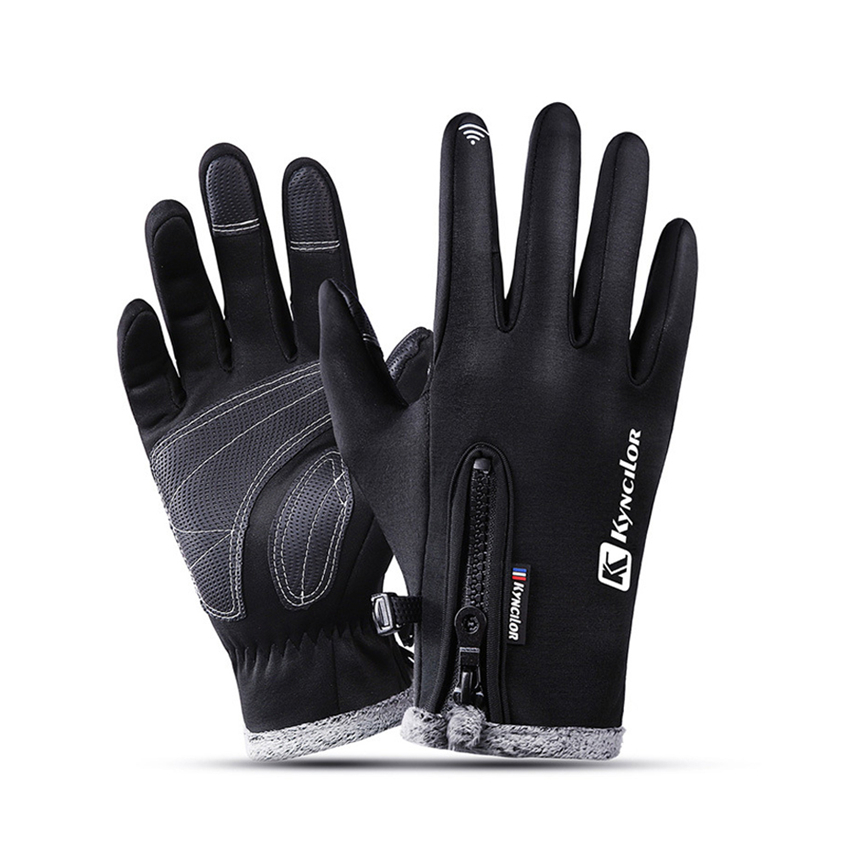 Men Women Waterproof Fleece Ski Warm Gloves Windproof Outdoor Winter Gloves Cycling Touch Screen Gloves Anti Slip Mittens Gift