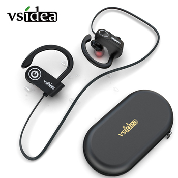 Sport Wireless Headphones IPX5 Waterproof bluetooth headset, Bass HD Stereo Running Earbuds, Noise Cancelling earphone with Mic baseus s09 bluetooth headphones bass stereo wireless earphone ear buds waterproof sport headset cvc noise cancelling mic earbuds