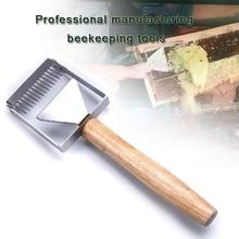 Beekeeping Tools Uncapping Scraper Honey Honeycomb Scraper Wooden Handle Beekeeping Equipment Uncapping Fork недорого