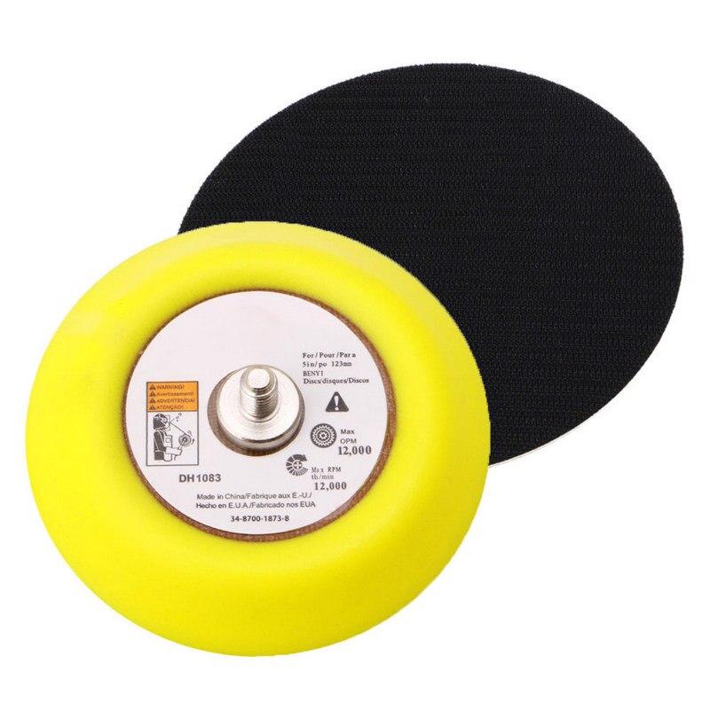 75mm Polishing Backer Plate 1/4''Shank Metal Polishing Grinding Abrasive Napping Hook Loop Sanding Disc Pad For Pneumatic Tool