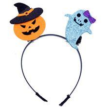 Child Kids Halloween Headband Cute Spring Cartoon Pumpkin Bat Ghost Hair Hoop