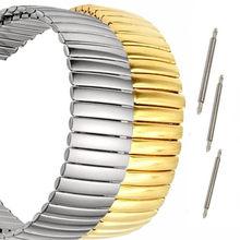 12 14 16 18 20 22 MM Trecho Expansão Peças Cinta Faixa de Relógio de Aço Inoxidável Relógio Pulseiras Acessórios de Metal + a barra de mola