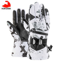 Ski-Gloves Women Touch-Screen Snowboard Fleece Warm Waterproof Winter 3-Fingers Kokossi