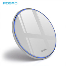 FDGAO Qi Wireless Charger 15W Quick Charge For Huawei P30 Pro Mate 20 10W Charging Pad iPhone X XS Max Samsung S9 S10
