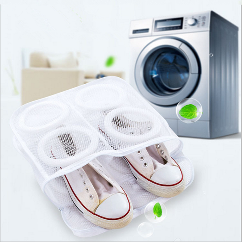 Hanging Dry Shoe Washing Bag Cloth Laundry Mesh Net Sneaker Storage Polyester Shoe Washing Bag
