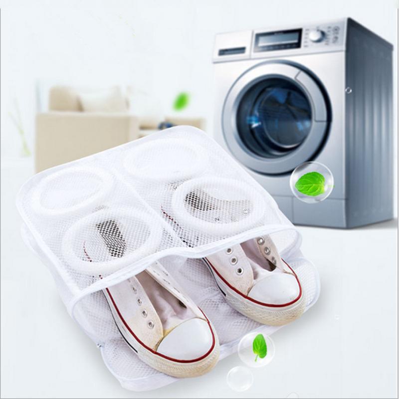 Hanging Dry Shoe Washing Bag Cloth Laundry Mesh Net Sneaker Storage Polyester Shoe Washing Bag