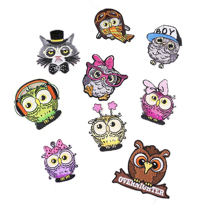 Embroidery Cloth Stickers Patch Stickers Animal Birds Embroidery Chapter Applique Ironing Clothing Sewing Supplies For Clothing