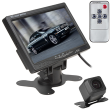 7 Inch TFT LCD 800 x 480 HD 2 Video Input Car Rear View Headrest Monitor+E313 420 TV Lines 170 Degrees Reverse Backup Camera