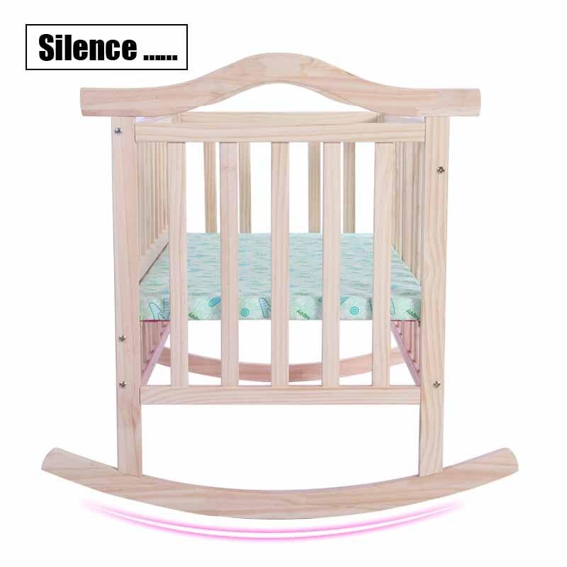 Keine Strahlung Elektrische Schaukel Babywiege, Baby Schaukel Kiefer - Babymöbel - Foto 3