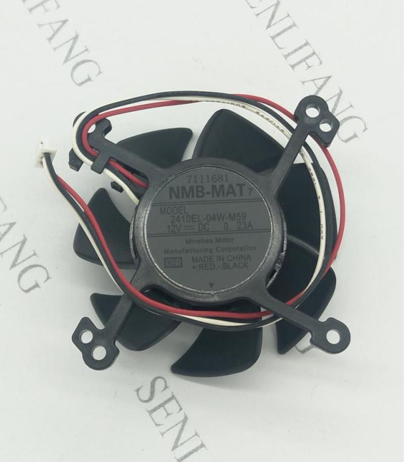 Free Shipping Original 6cm 6025 12V 0.23A 2410EL-04W-B59 2410EL-04W-M59 H328E Projector Cooling Fan