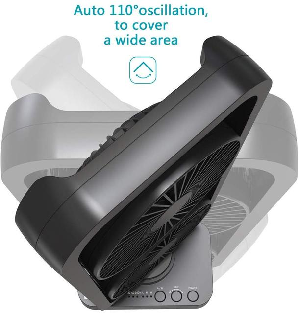 Portable Battery Operated Desk Fan with Superpower Battery , Cordless Rechargeable USB Camping Fan with Fast Air Circulation
