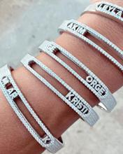 Micro Pave 5A Cubic Zirconia CZ 26 Initial DIY Customize Name Letter Slider Alphabet Personalized Name Bangle