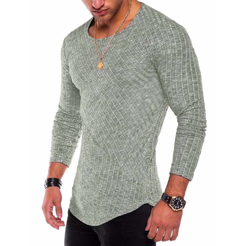 Zogaa Plus Size Slim Fit Sweater Men 2019 Spring Autumn Thin O-Neck Knitted Pullover Men Casual Solid Mens Sweaters Pull Homme