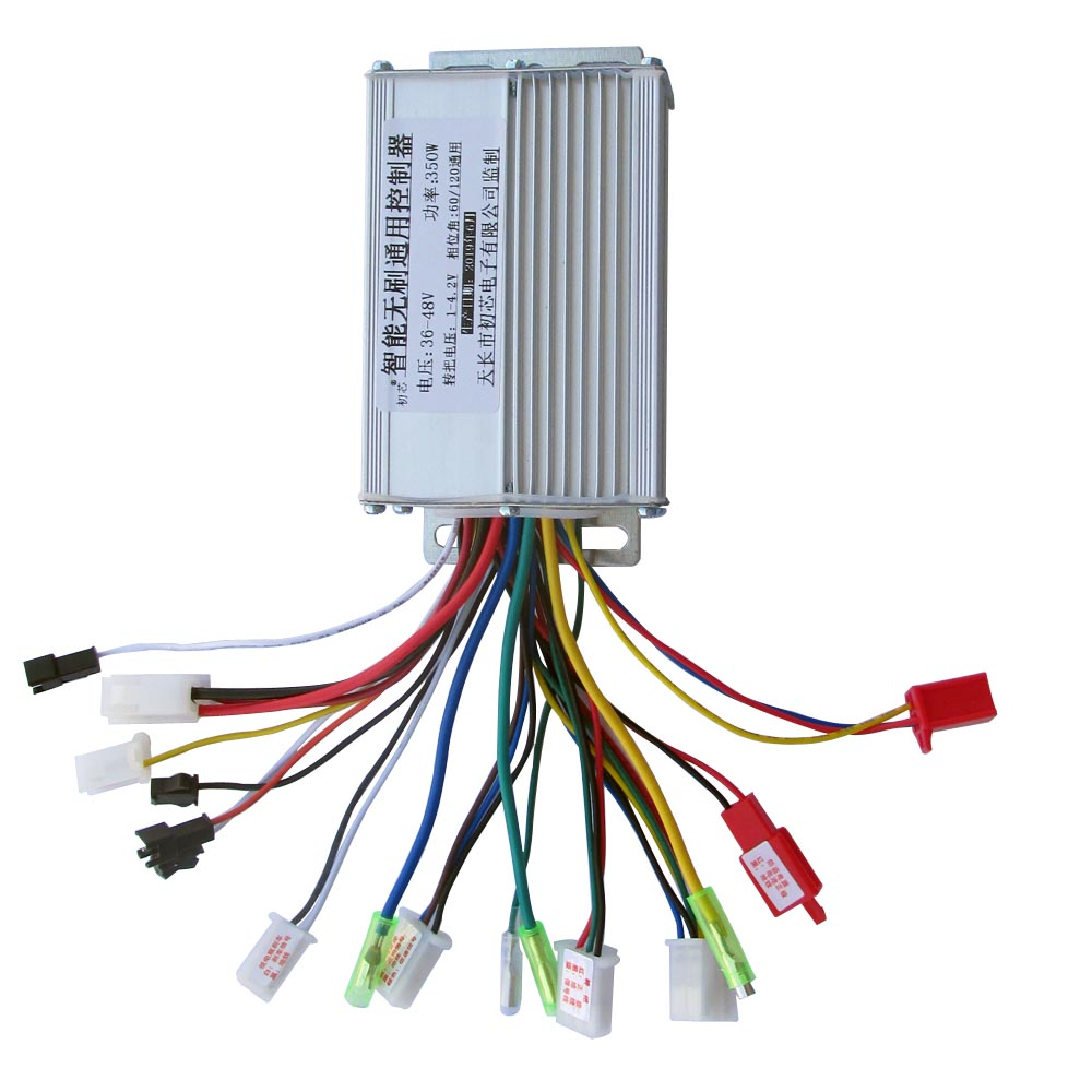 Electric Bike Accessories Brushless DC Motor Controller 36V/48V 350W For Electric Bicycle E-bike Scooter High Quality Controller