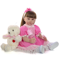58cm Bebe Reborn Dolls soft Silicone and cotton body reborn baby doll real Girl Toys For kids Holiday gift with Princess dress