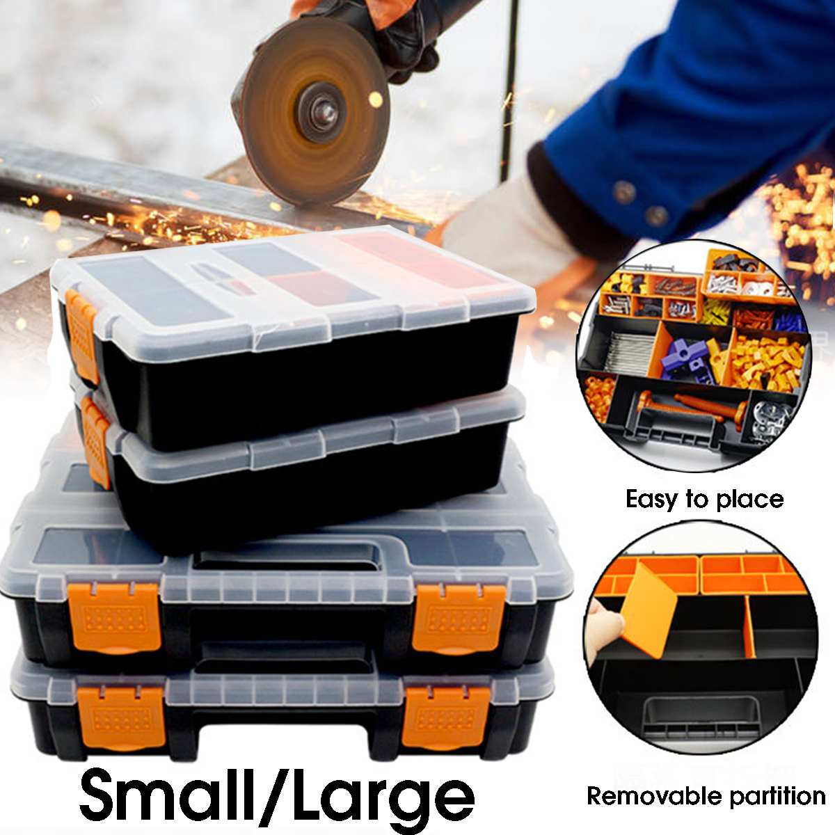 Tool Case Components Box Plastic Parts Combined Transparent Drill Screw Containers Storage Case Hardware Accessories Tool Box