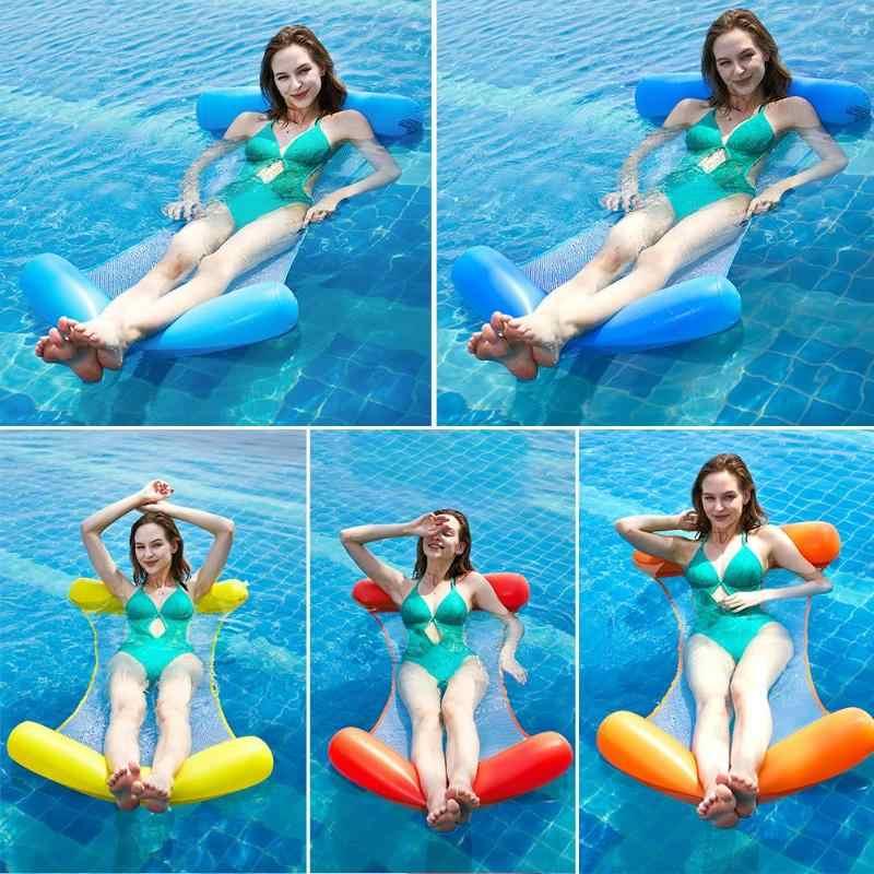 Nước Võng Trong Không Khí Nệm Bể Bơi Đi Biển Lửng Nổi Ngủ Đệm Có Thể Gấp Lại Được Bơm Hơi Đệm Ghế Giường Hơi