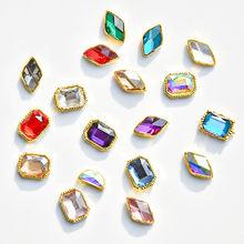 10 шт художественный амулет для ногтей бриллианты Блестящие