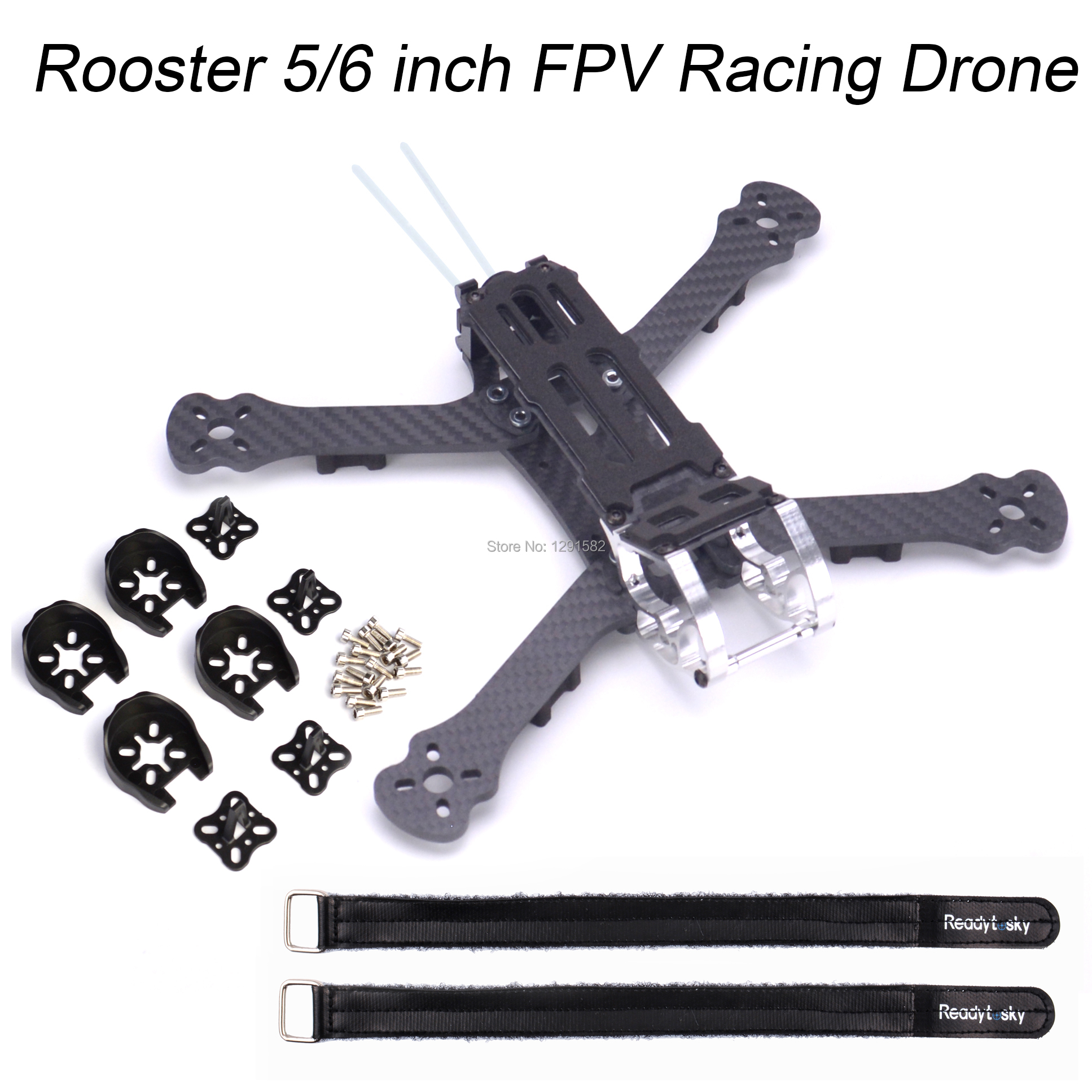 Rooster 230 225mm / 255mm FPV Racing Drone Quadcopter Frame 5 / 6 Inch FPV Freestyle Frame With 4mm Arm For Chameleon 220mm