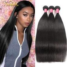 Nadula włosów peruwiańskie proste włosy wyplata 3 sztuk wiązki włosów maszyna pokój wątek 100% ludzkie pasma włosów typu remy