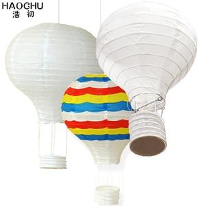 Image 1 - 5PC 大熱気球提灯レインボーハンギングボール白中国の結婚式誕生日ホリデーパーティーの装飾