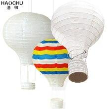 Balão de papel arco íris 5 peças, grande balão de papel lanterna pendurada bola branca chinesa desejo casamento aniversário festa decoração