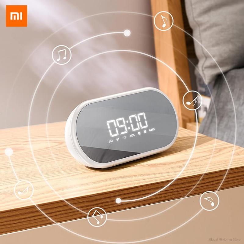 Xiaomi Youpin BASEUS sans fil Bluetooth haut-parleur ménage Subwoofer Mini son réveil miroir Portable Radio 3-D Surround