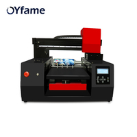 OYfame A3 UV Printer For Phone case Acrylic Leather Wood Bottle UV Printing Machine Large Format Printer With Varnish Effect