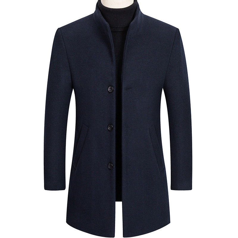 Men's Long Woolen Coat, Men's Wool Coat, Long Coat, Men's Windbreaker, Winter Men's Clothing, Men Coats, Mens Wool Coat